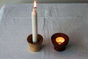 Lysestage til fyrfadslys og almindeligt lys